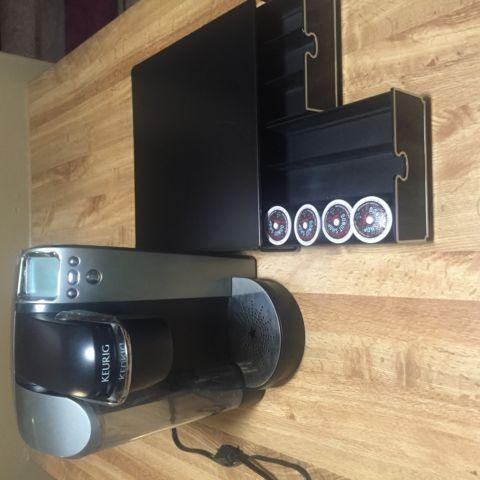 Gently Used KUERIG Coffee Maker and K-Cup Two Drawer