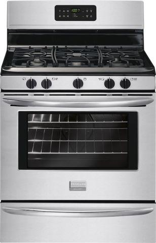 Gently Used stainless steel frigidare gas stove
