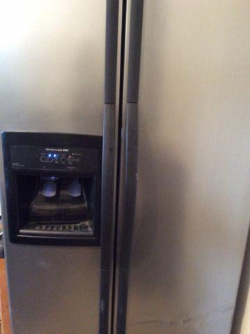 Gently Used Stainless Steel Side By Side Kitchen Aid