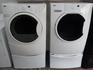 Gently Used Washer Dryer Kenmore He4 Frontloaders On Pedastals