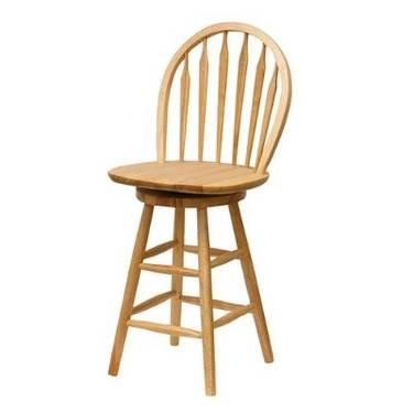 Gently Used Wooden Swivel Bar Chairs