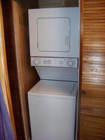 gentlyl used whirlpool stacked washer and dryer
