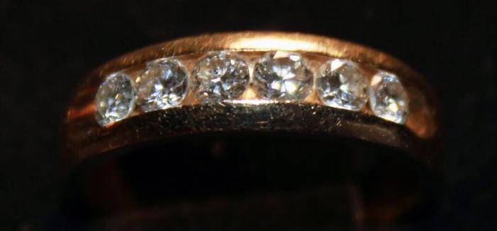 Gents Gold Band With Diamonds 14K Appraised At $1500