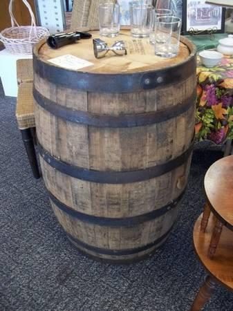 Genuine Jim Beam 53 Gal Wood Whiskey Barrel - $225