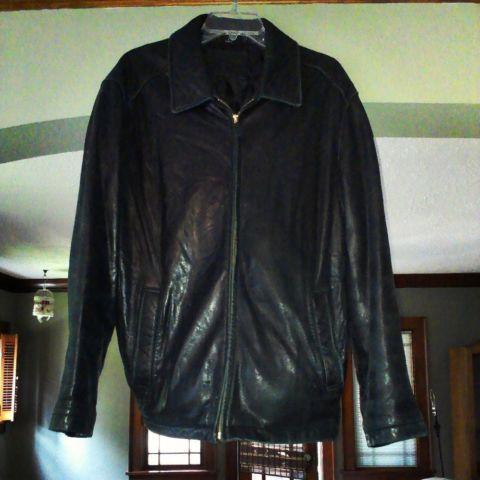 Genuine Lamb Leather Jacket Men S Large Dockers Soft Medium