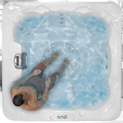 Geo Spas Plug and Play 6-Person 30-Jets Spa with Mahogany Cabinet