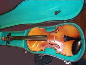 German-made Anton Beder Stradivarius copy violin 12 size - $75 Corvallis