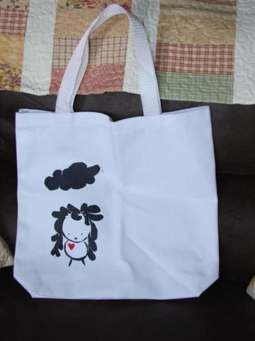 Girl Cloud tote. new