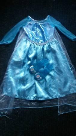 Girls 4t Disney Frozen Elsa Dress Amp Shoes Heels Play
