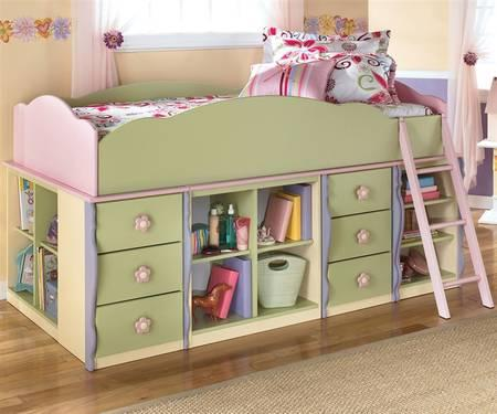 Girls Doll House Loft Bed With Drawers And Shelves For Sale In Tampa Florida Classified