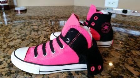 118dfd664fe8 Girls Hi Top Converse Sneakers (hot pink n black for sale in Churchville