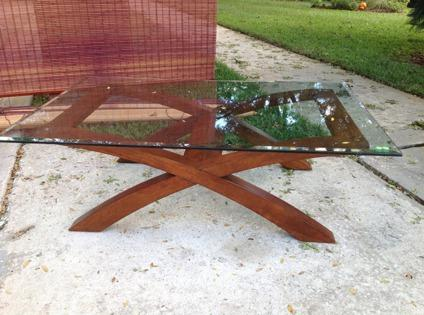 Glass coffee table living room set