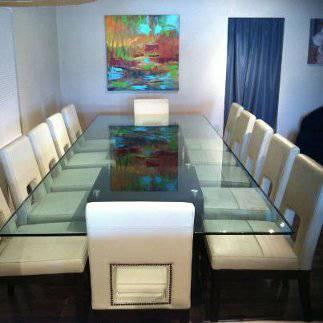 Glass Conference Table With Seating For For Sale In McAllen Texas - Glass conference table for sale