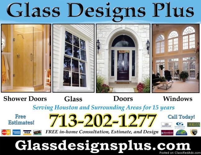 Glass Designs Plus Services Provided In Humble Texas