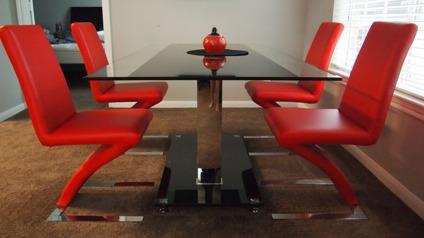 Glass Dining Table Chair Set