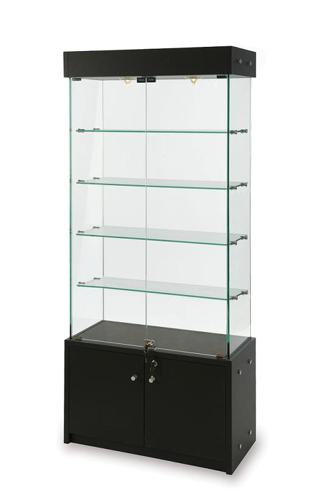 Glass Display Cabinet Showcases: Glass Display Showcase-Cabinet For Collectibles-Jewelry