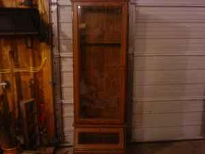 Glass Front Gun Cabinet   $60 (Forsyth IL)