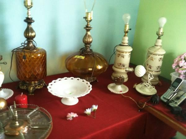 glass items, fine china, Pottery, Crystal, etc - $1