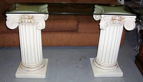 Glass top ceramic pedestal sofa table for sale in burlington new jersey classified - Ceramic pedestal table base ...