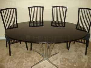 Glass Top Dining Room Table And 4 Chairs N Chas