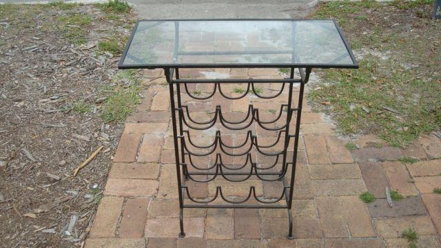 Glass Top Wine Rack Table For Sale In Saint Cloud Florida