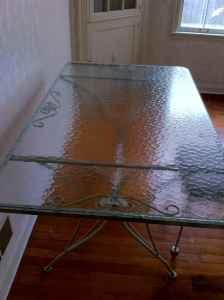 Glass Top Wrought Iron Table U0026 Chairs   $150 (Wausau)