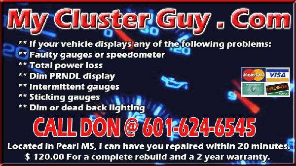 chevy silverado instrument cluster repair near me