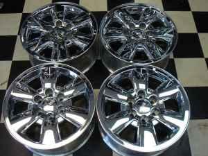 gmc sierra yukon denali 18 chrome factory wheels rims 832 877 3270 houston for sale in. Black Bedroom Furniture Sets. Home Design Ideas