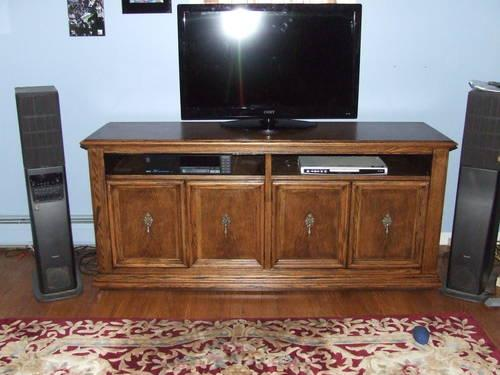 Go Green Repurposed Thomasville Cabinet Flat Screen Tv