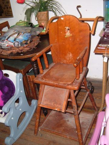 Going Out Of Business Antique Baby High Chair Potty