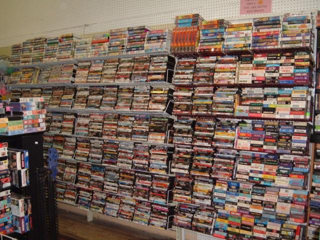 GOING OUT OF BUSINESS-----USED DVD & VHS MOVIES