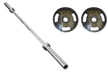 Gold S Gym Xr5 Olympic Weight Bench Curl Bar Tubular Bar