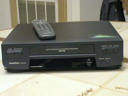 GoldStar model GVR-E235 VCR with Remote