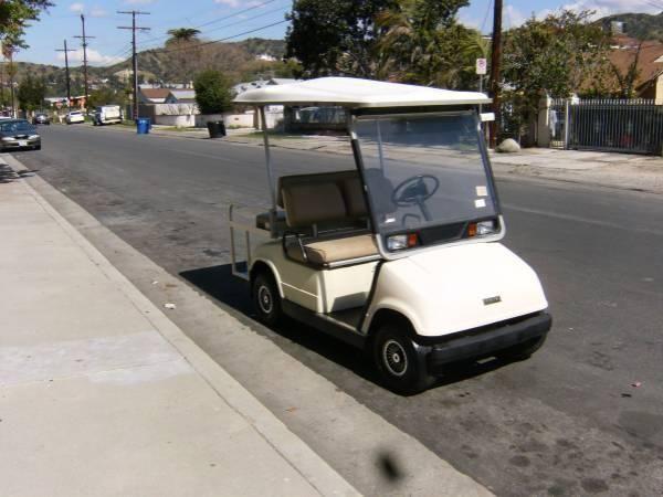 Golf Cart Yamaha Foldable Backseat 4 Seater with charger  Stroke Yamaha Golf Cart Ler on
