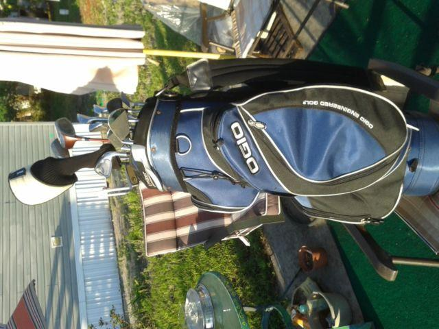 Golf clubs with bag and Driver