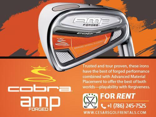 Golf Rentals: Cobra AMP Forged Irons for Rent