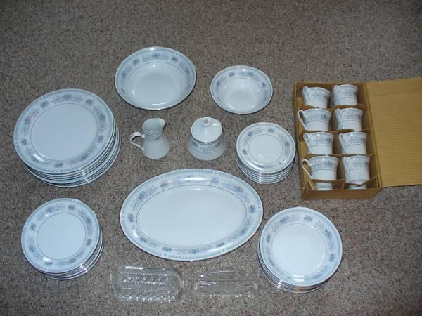 Good china and Mikasa wine glasses - $125