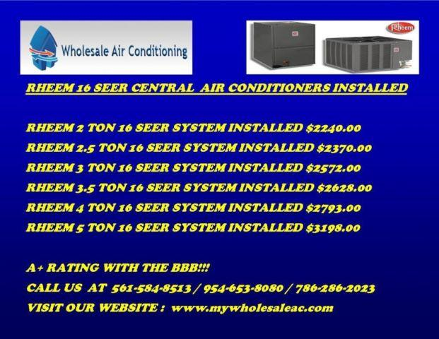 Goodman 16 Seer Cental Ac Units Spring Sale For Sale In Miami