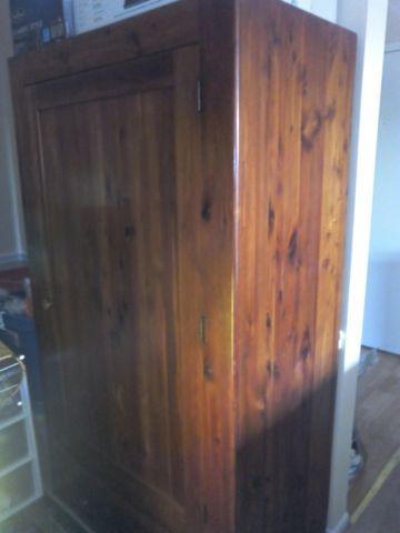 Gorgeous 1800s Antique Cedar Wardrobe