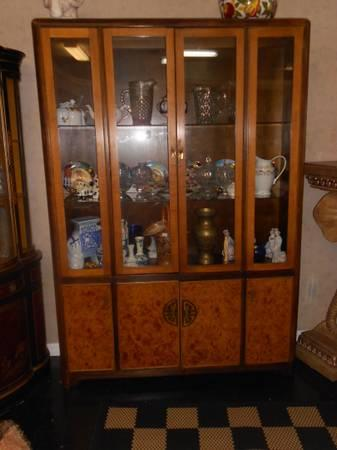 Gorgeous asian style china cabinet by bernhardt for sale for Chinese style furniture for sale
