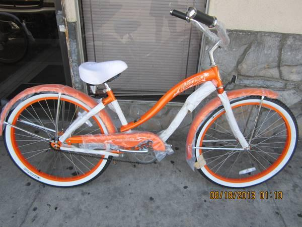 Gorgeous Orange Womens Beach Cruiser Bicycle on Sale - $175