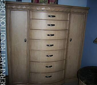 Gorgeous Whitewash Bernhardt Master Chest Dresser For Sale