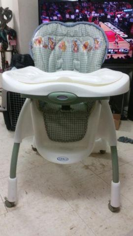 Graco High Chair Stroller Amp Power Wheel Blue Jeep And Few