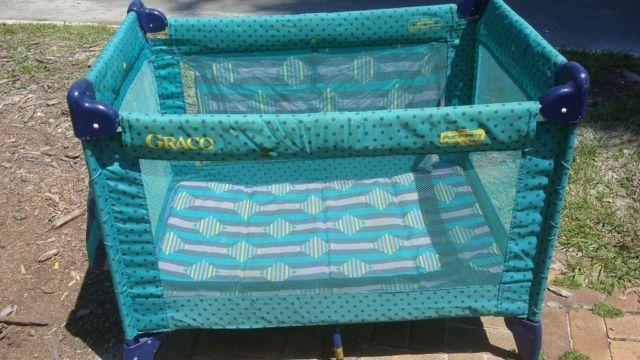 Graco Pack N Play Portable Play Pen Aqua Blue Colors