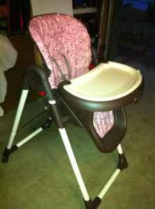 Graco Pink And Brown Highchair East Redding For Sale