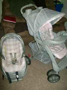 Graco Pink Print Car Seat Stroller Combo Tri State Area