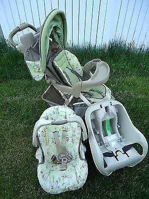 Graco Snug Ride Travel System Stroller&Car Seat w/Base,