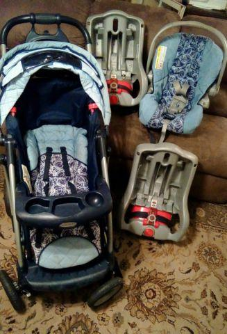 Graco Snugride 32 Travel System Used Stroller Car