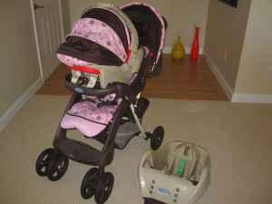 Graco Car Seat Base And Stroller - Seat
