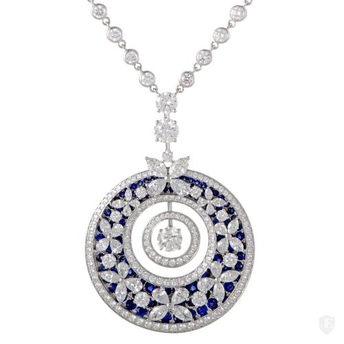 Graff Diamonds 18K White Gold Diamond and Sapphire